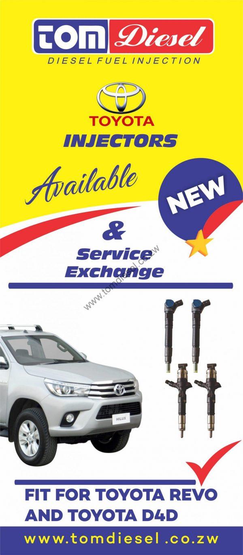 Toyota D4D Diesel Injectors